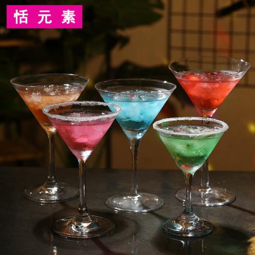 酒吧鸡尾酒杯喇叭杯马天尼杯日式水晶三角马提尼杯高