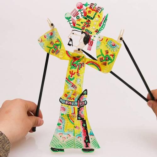 新款品表演幼儿园陕西安diy皮影戏手工皮影人物皮影戏