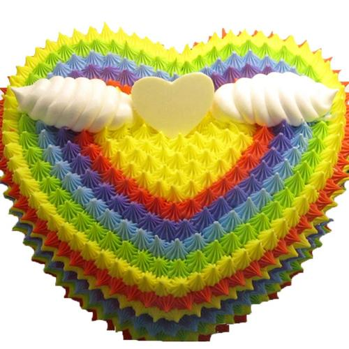 彩虹生日蛋糕当日送达 送儿童小朋友上海广州深圳