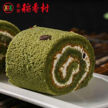 三禾稻香村糕点点心抹茶红豆蛋糕两块特产