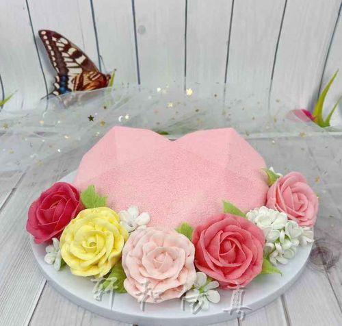 轩和创意蛋糕模型欧式裱花喷砂浪漫节母亲节生日