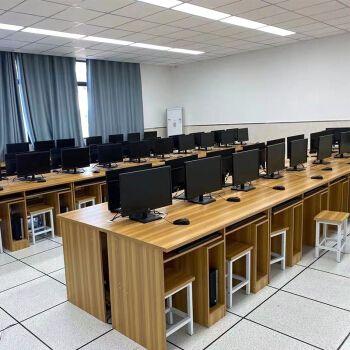 统阅学校电脑桌木制双人三人微机室培训桌教室机房电脑桌 双人1.