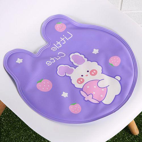 新款小熊头造型:紫色草莓兔【免注水】