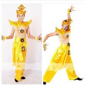 古印度千手观音演出服装出租赁男士飞天舞古典舞民族泰国舞蹈服装