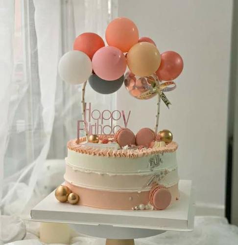 网红蛋糕装饰 气球蛋糕装饰插件 小气球纸片气球蛋糕