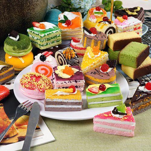 促销仿真食物慕斯蛋糕模型仿真法式糕点心甜品道具蛋糕展示软装饰