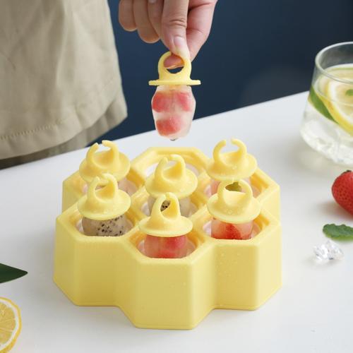 创意蜂巢型雪糕卡通模具diy冰格家用简约自制冰盒冰棍