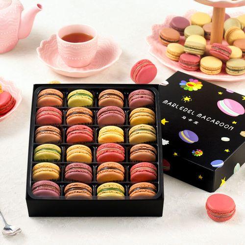 法式马卡龙甜点12粒/24粒饼干夹心小蛋糕好吃的糕点礼盒网红零食