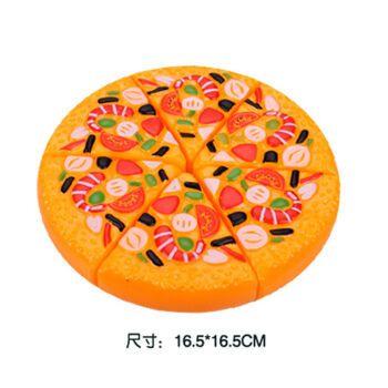 西瓜】儿童切水果玩具小男女孩过家家仿真蔬菜水果宝宝切切乐 大披萨