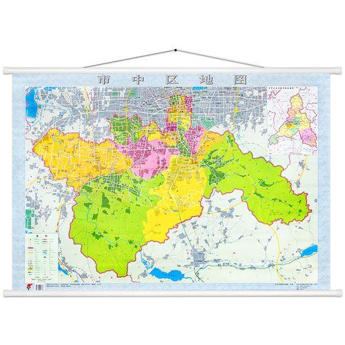 8米 高清印刷 覆膜防水 山东省区域地图山东省市济南市中区地图 详细