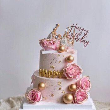 乐食锦新鲜水果蛋糕全国预定同城配送双层网红生日蛋糕定制当日送达