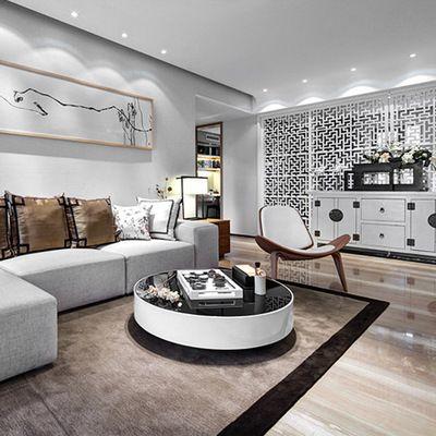 现代新中式别墅样板房实景效果图 家居装修室内设计