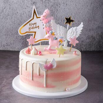 蛋糕模型仿真2020新款网红欧式水果生日假蛋糕塑胶橱窗样品可 花瓣