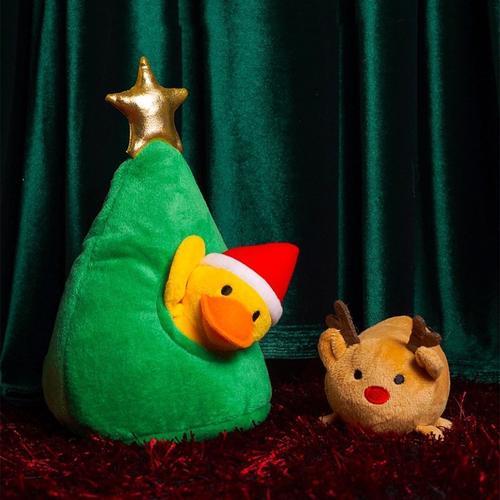 呆瓜家 宠物狗狗圣诞节限定掏掏玩具 狗狗益智藏食发声玩具 现货