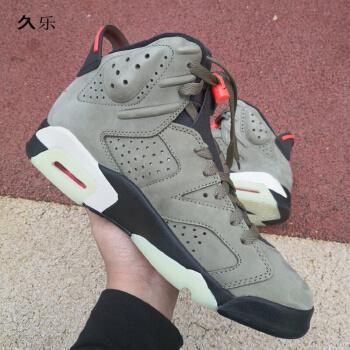 香忊联名jax aj6ts橄榄绿高帮篮球鞋军绿口袋鬼脸男潮