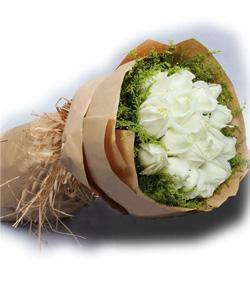永远-11支白玫瑰-全国鲜花速递同城鲜花店配送生日花