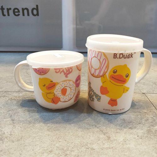五和小黄鸭单耳杯子 儿童耐摔带盖水杯 婴幼儿学饮杯