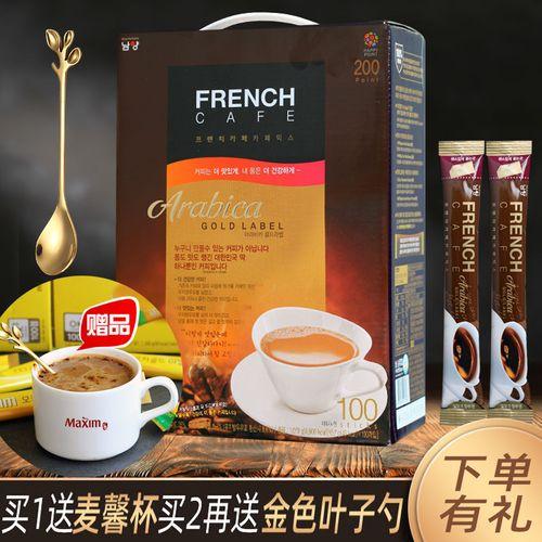 韩国南阳咖啡 三合一速溶french法式金牌咖啡粉富然池