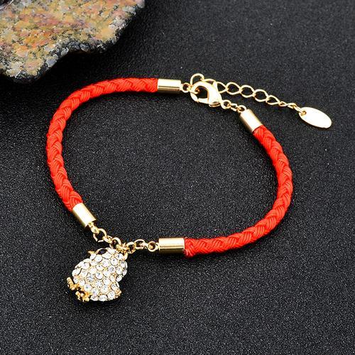 红绳手链女男转运情侣一对鸡年本命年圣诞节礼物编织手绳吉祥物