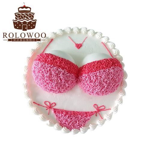 成人恶搞情趣女胸创意个性比基尼生日蛋糕同城速递定全国配送