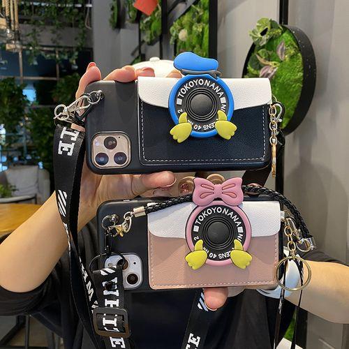 斜挎零钱包适用于vivox27手机壳鸭屁股x21女款挂绳背包式x23相机diy