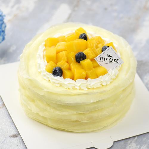 【芒果千层】新鲜芒果奶油水果生日蛋糕下午茶