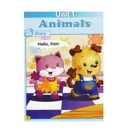 hello teddy洪恩幼儿英语启蒙篇a 升级版可点读附dvd光盘儿童英语视频