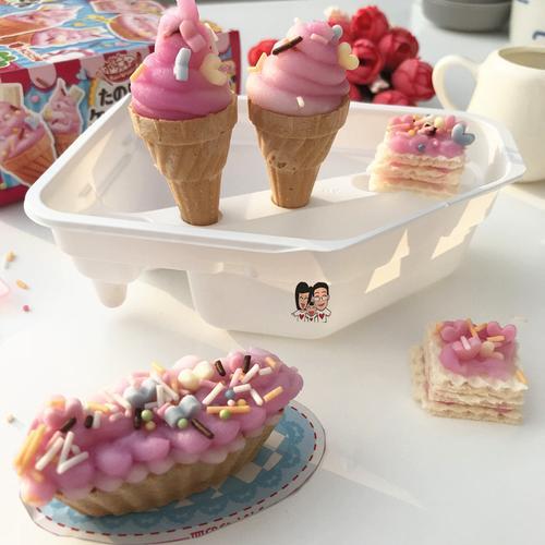 日本食玩【现货】玩具菓子kracie冰淇淋雪糕diy自制