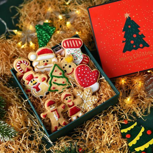 【萌北北】圣诞节礼品手工曲奇饼干姜饼人糖霜饼干儿童礼物网红零