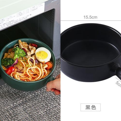 手柄碗单个创意家用面碗烤碗沙拉用烘焙甜品碗日式烤箱碗焗饭碗.