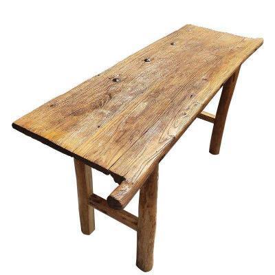 老榆木门板复古怀旧楼梯踏板茶台原木吧台板茶桌旧木板风化木实木