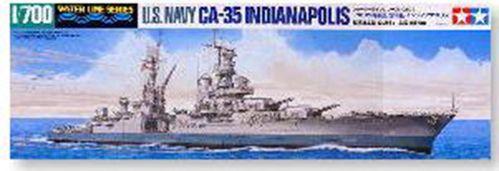 满额包邮 田宫 31804 1:700 美国重巡洋舰 ca35印第安纳波利斯