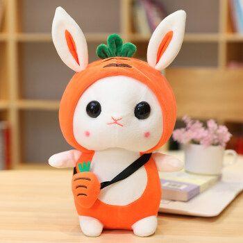 兔子公仔 抖音同款可爱兔子毛绒玩具女孩垂耳兔超萌小