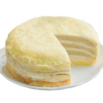 巧师傅榴莲千层蛋糕 苏丹王榴莲手工制作口感好奶油水果千层6寸600克