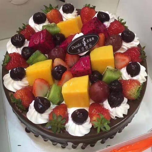 【巧克力水果蛋糕大约8英寸*盒】多喜来社区团购(宜春)