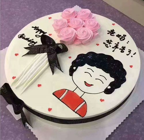轩和蛋糕模型 创意花卉绘画仿真蛋糕 新款母亲节妈妈生日蛋糕模型