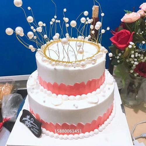 多层2层双层二层皇冠生日蛋糕福州同城配送教师节女