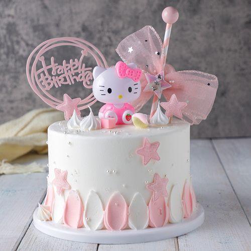 kt猫蛋糕模型仿真2021新款 网红创意 生日假蛋糕样品