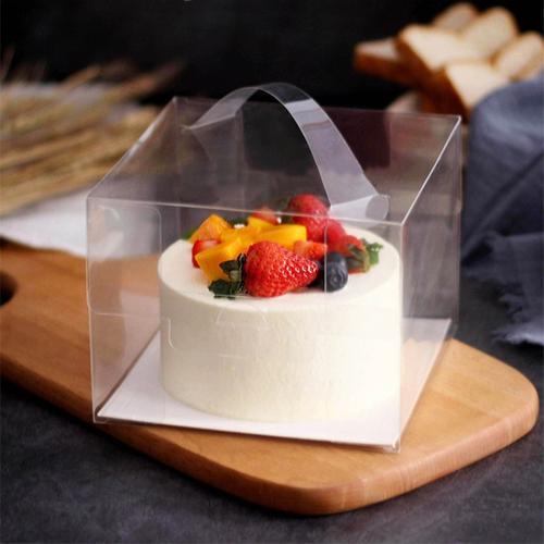 四寸五寸蛋糕盒透明塑料手提4寸5寸生日蛋糕爆浆芝士