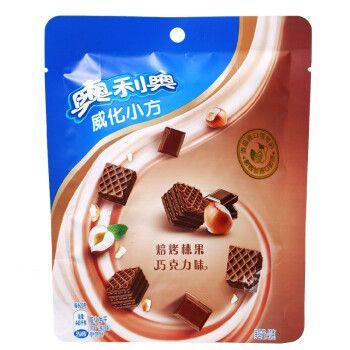 奥利奥威化小方42g香草巧克力饼干早餐代餐夹心休闲零食小吃 巧克力味