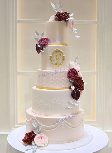 新款网红翻糖仿真蛋糕 翻糖生日蛋糕模型 多层婚庆