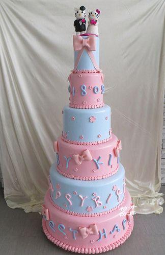 仿真多层蛋糕模型婚庆开业六层卡通鲜花仿真翻糖蛋糕