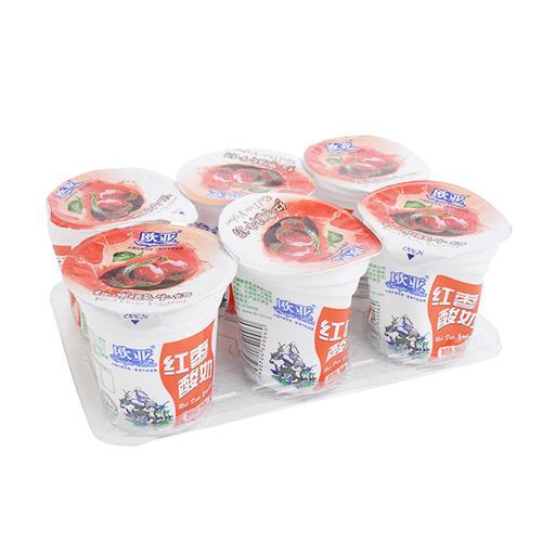 欧亚果肉酸奶红枣150ml*6杯/组