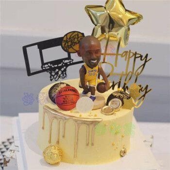 红篮球生日蛋糕同城nba球星科比库里男士男孩aj球鞋盒蛋糕全国配送 m