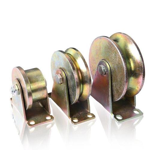 吊环轨道钢丝绳定滑轮单槽h型槽轮滑轮导向轮滑轨不生锈家用v型圆