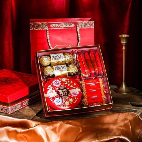 结婚喜糖礼盒成品含糖果婚礼伴手礼订婚糖果礼盒装