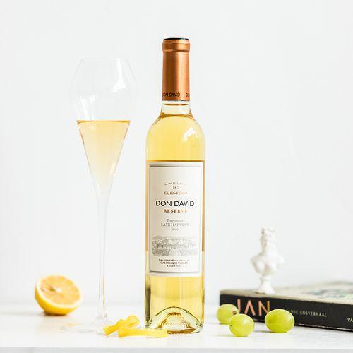 艾斯德科唐大卫特浓情晚收甜白葡萄酒500ml洋酒正品