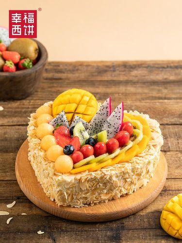 萌小北@幸福西饼生日蛋糕水果千层创意蛋糕拼盘网红