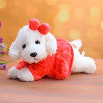 可爱泰迪狗公仔趴趴狗毛绒玩具新款狗狗车饰装饰摆件玩偶布娃娃抱抱熊