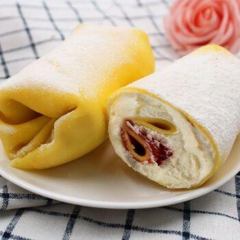 网红毛巾卷蛋糕奶油点心千层蛋糕抹茶巧克力菠萝芒果味爆浆甜点